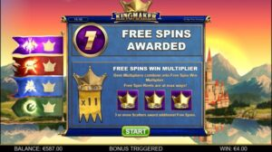 kingmaker bonus swedish casino
